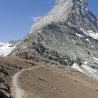 Picture - Mountain track below the Matterhorn.