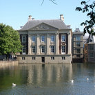 Picture - Pond in front of the Mauritshuis Museum in The Hague.