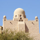 Picture - The Mausoleum of the Aga Khan at Aswan.