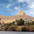 Picture - The Mausoleum of the Aga Khan on a hilltop above the Nile at Aswan.