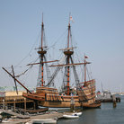 Picture - Replica of the Mayflower in Plymouth, Massachusetts.