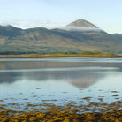 Picture - A lake and Croagh Patrick in the County of Mayo.