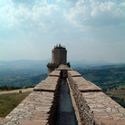 Picture - Fortifications at the castle in Assisi.