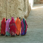 Picture - Women at the Mehrangharh Fort in Jodhpur.