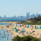 Picture - A sunny day at the beach in Melbourne.