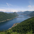 Picture - Lake Lugano near Melide.