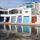Picture - Colorful waterfront of Milos.