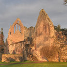 Picture - The sun hitting Melrose Abbey.
