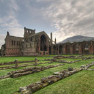 Picture - Grounds of the Melrose Abbey.