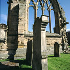 Picture - Cemetery of the Melrose Abbey.