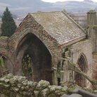 Picture - Looking down on Melrose Abbey.