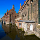 Picture - View of the Memling Museum and St John's Hospital in Bruges.