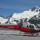 Picture - Helicopter on Mendenhall Glacier, Juneau. .