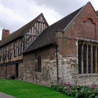 Picture - The medieval Merchant Adventurers Hall in York.