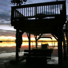 Picture - Silhouette of boat house off Newfound Harbor, Merritt Island.