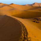 Picture - View over the Merzouga Dunes.