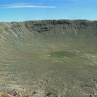 Picture - View from rim of Meteor Crater.