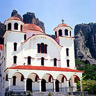 Picture - A typical Greek church in Meteora.