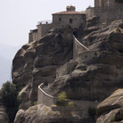 Picture - Walkway to a cliff side monastery at Meteora.