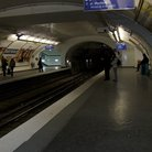 Picture - Inside the Paris metro.