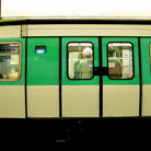 Picture - Train car in the Paris Metro.