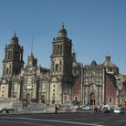 Picture - The predominantly Baroque facade of the Cathedral on the Zócalo in Mexico City.