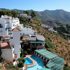 Picture - Houses in the hills on the road near Mijas.