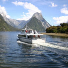 Picture - Boat tour at Milford Sound.