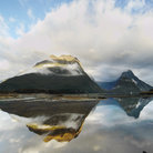 Picture - Lake and reflection in the Milford Sound area.