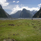 Picture - A typical view from the shore at Milford Sound.