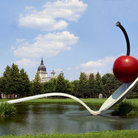 Picture - Spoonbridge with cherry in Minneapolis Sculpture Garden.