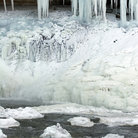 Picture - Frozen Minnehaha Falls, Minneapolis, Minnesota.