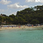 Picture - The beach at Cala Galdana, Minorca.