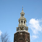 Picture - Steeple detail of Munttoren in Amsterdam.
