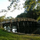 Picture - Wooden bridge at the Minute Man National Historical Park in Concord.