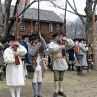 Picture - A re-enactment at the Minute Man National Historical Park in Concord.