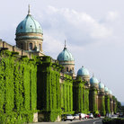 Picture - Wall of the Mirogoj graveyard in Zagreb.