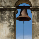 Picture - One of the bells on Mission Concepcion in San Antonio Missions National Historic Park.