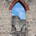 Picture - Stone window on a mission in San Antonio Missions National Historic Park.