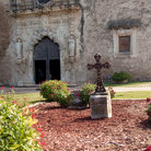 Picture - The grounds and a door at the Mission San Francisco de la Espada outside San Antonio.