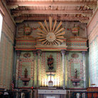 Picture - Interior of Church at Mission San Miguel.
