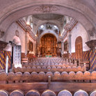 Picture - Interior view of the Mission San Xavier del Bac.