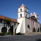 Picture - Archway and towers, Santa Barbara Mission.