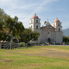 Picture - Grounds of Santa Barbara Mission.