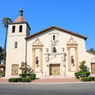 Picture - Mission Santa Clara de Asis in Santa Clara, California, on the El Camino Real.
