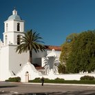 Picture - Mission San Luis Rey de Francia in Oceanside on the El Camino Real.