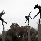 Picture - Dancing statues on the grounds of the Missouri Botanical Gardens.