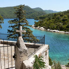 Picture - A view from a high point on Mljet Island.