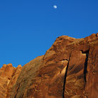 Picture - Moon over Kane Creek Wash, Moab.