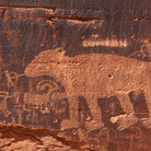 Picture - Animal petroglyph near Moab.